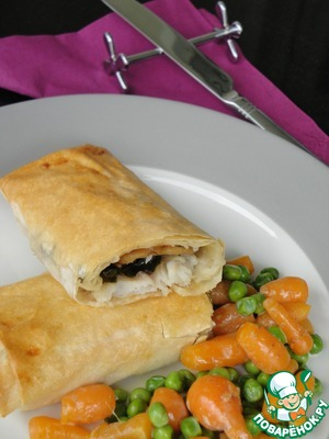 Все, подавайте эту красоту. А если у вас сегодня немного «пикантное» настроение, то вместо овощей приготовьте соус, например, такой - http://www.povarenok .ru/recipes/show/422  99/