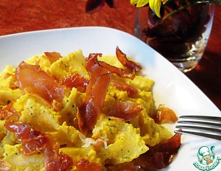 Паста со сливочно-морковным соусом и беконом – кулинарный рецепт