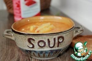 Перед подачей на стол можно добавить в каждую тарелку с супом свежую кинзу.