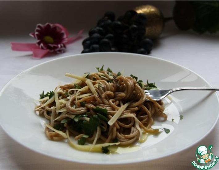 Рецепт: Спагетти с бальзамическим уксусом