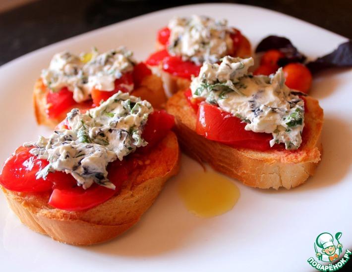 рецепты с творожным сыром и помидорами