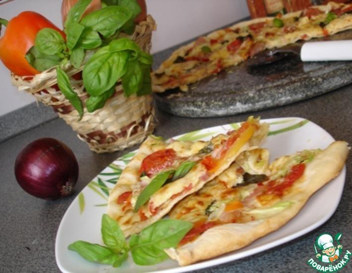 Рецепт: Пицца по-тоскански с овощами