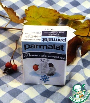 Cream Parmalat a little heated.