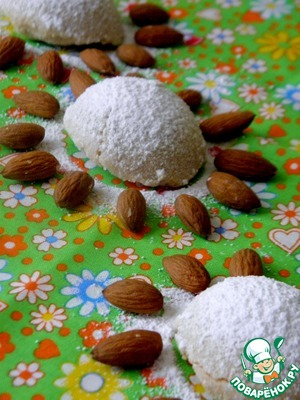 Ready definitely give the liver to cool on the baking sheet. Then sprinkle with powdered sugar.  Have polvorones can be wrapped in paper and stored for long periods)