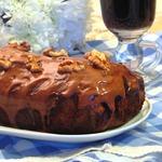 Шоколадный пирог с грецким орехом