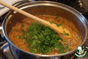 At the end of cooking add salt and chopped parsley to taste. I love a little more. Mix well. The dish is ready!