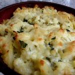 Картофель с яйцом, сыром и чесноком