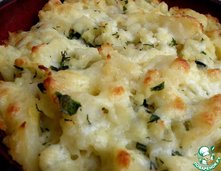 Рецепт: Картофель с яйцом, сыром и чесноком
