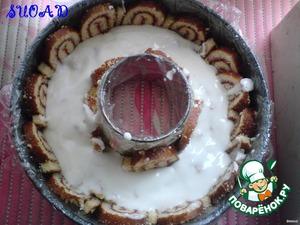 Печенье покрыть сметанным желе