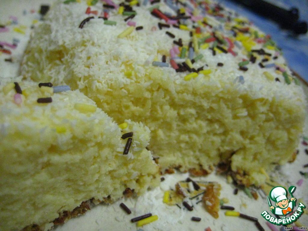 Холодный тропический пирог-десерт