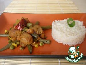 Подавать овощное карри с отварным белым рисом или как самостоятельное блюдо.      Приятного Вам аппетита.