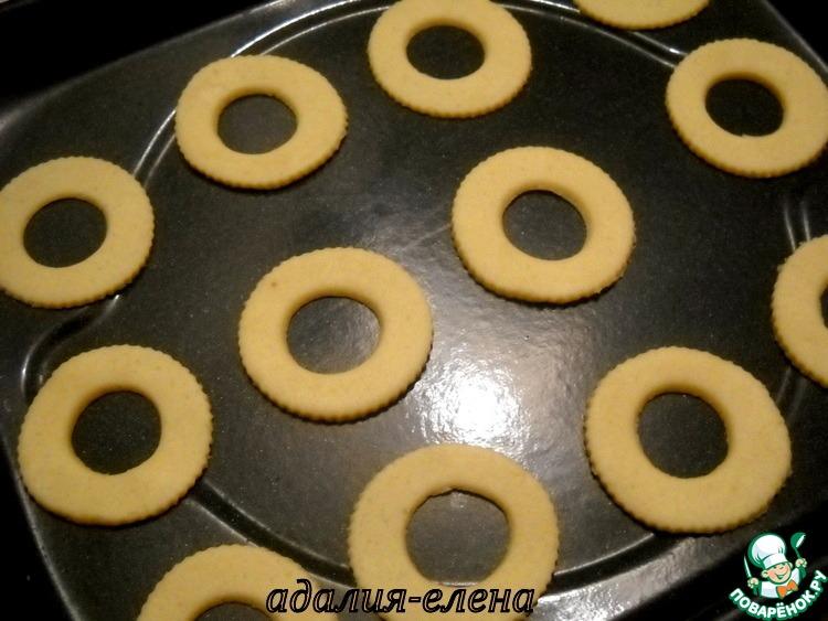 """Печенье """"Кольца"""" с апельсиновой начинкой в шоколаде"""