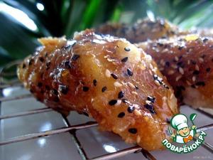 Бананы в кунжутной карамели – кулинарный рецепт