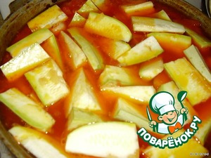 after 15 minutes, put the zucchini, quarter-cut, as well as carrots, close the lid and simmer for another 15 minutes