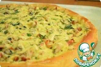 Рецепт: Пирог-пицца По-деревенски