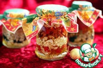 Рецепт: Орехи и сухофрукты в меду «Презент 2»