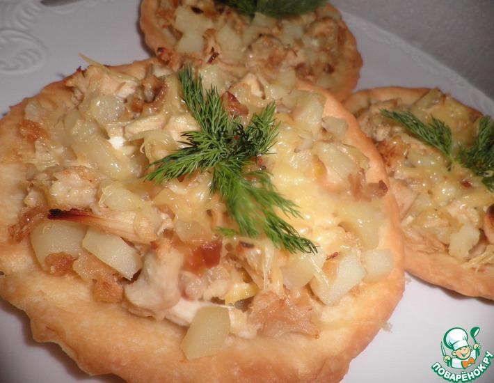 Рецепт: Тарталетки с курицей и картошкой