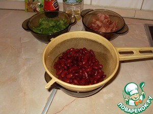 Pass the beans through a colander and give it a little dry.