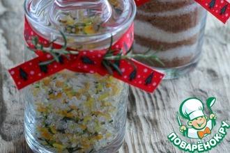 Рецепт: Ароматная соль с цедрой и розмарином