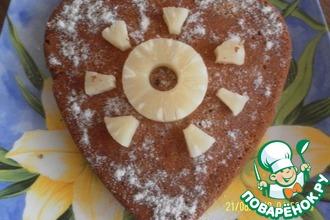 Рецепт: Медовый пирог с ананасом