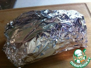 Wrap in parchment or foil and put in the refrigerator under a light press for 2 days.