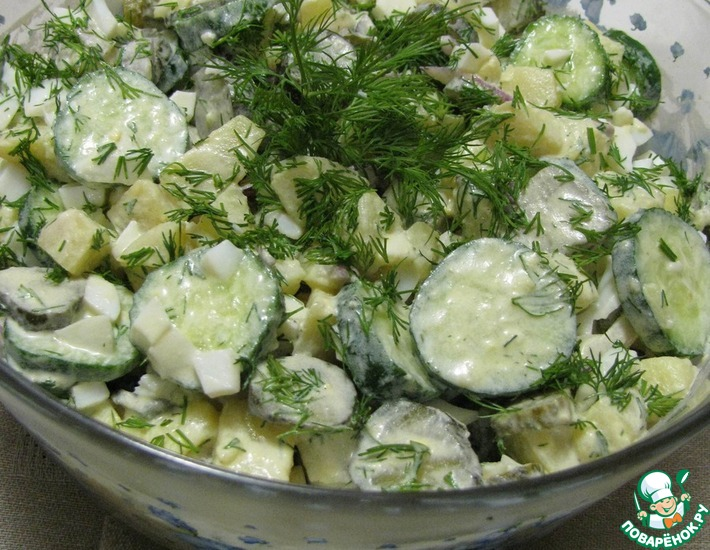 Рецепт: Берлинский картофельный салат