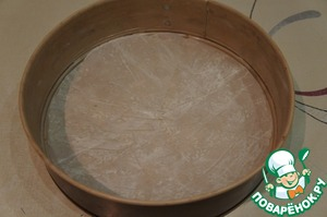 The form is better to lay baking paper and grease it.