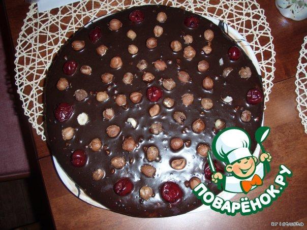 Торт  Вишня в коньяке