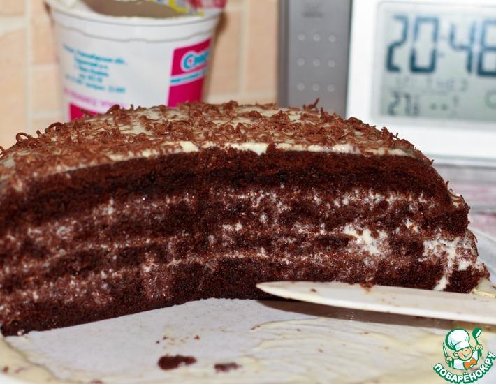 Рецепт: Торт Шоколад на кипятке для мультиварки