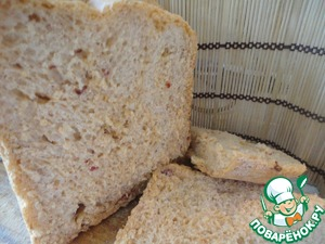 The bread is very fragrant, spicy. Crumb a nice light orange color. Bon appetit!