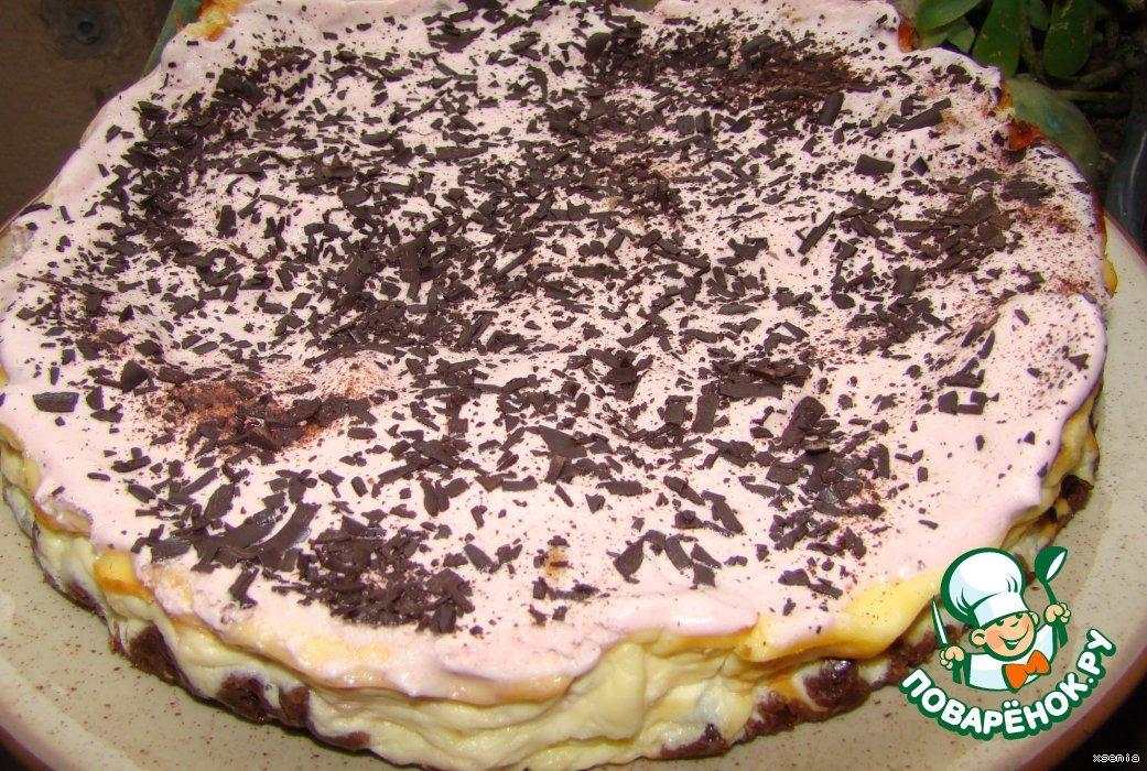 Торт -ватрушка с зефирным кремом
