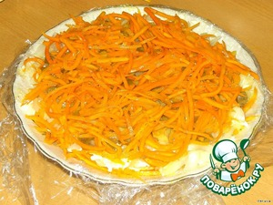 The next layer - Korean carrot.