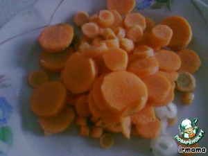 carrots cut into kruzhalami