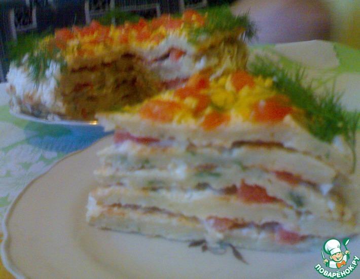 Рецепт: Торт из цветной капусты