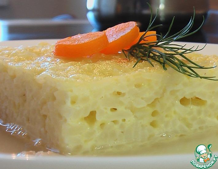 Рецепт: Запеканка из риса с бульоном