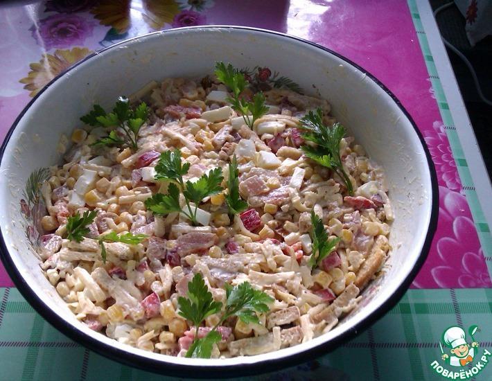Рецепт: Хрустящий салатик