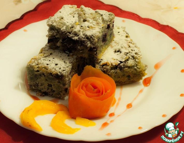 Рецепт: Шоколадно-черничное пирожное