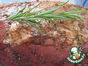 Coat with olive oil and mustard (1-2 tbsp) and leave to marinate for a few hours (overnight).