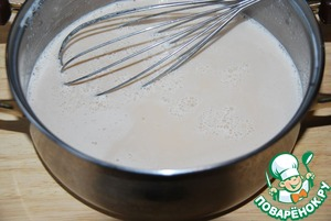 Add gelatin to hot mixture. Stir to completely dissolve the gelatin, I used a whisk, beat nothing. If gelatin is poorly soluble, heat again, but do not boil.