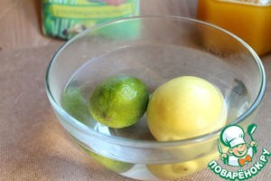 Lemon and lime scalded with boiling water, to excessive bitterness is gone.  In the absence of lime, you can use only lemons.
