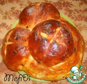 """Bake at 180-200 grams. 20 minutes in the bath (in a metal container filled with hot water and put it in the oven) - bake only mode """"bottom"""" 10 minutes to bake on the mode """"top"""" or """"heat"""". Half an hour and the bread is ready (at least for me).  Bon appetit! :-)"""