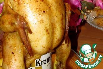 Рецепт: Цыпленок Под хмельком