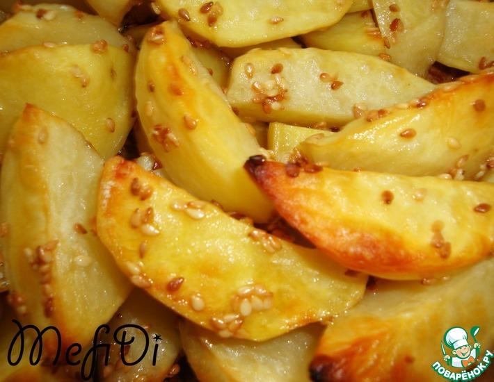 Рецепт: Кунжутный картофель