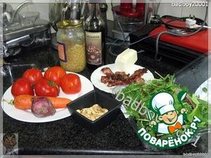 И снова салат в итальянском стиле, просто и вкусно. Примерный набор продуктов.