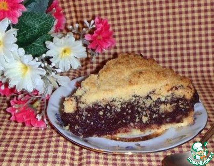 Рецепт: Черёмуховый пирог Простушка