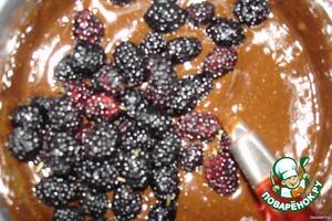 Шоколадные кексы с шелковицей – кулинарный рецепт