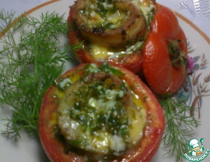 Рецепт: Рыба, запечённая в помидорах
