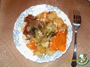 Картошка с мясом в рукаве – кулинарный рецепт