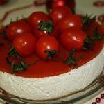 Закусочный сметанный торт-суфле Песто