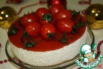 Рецепт: Закусочный сметанный торт-суфле Песто